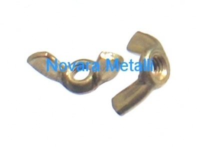 4 PACK BRASS WING NUTS M4